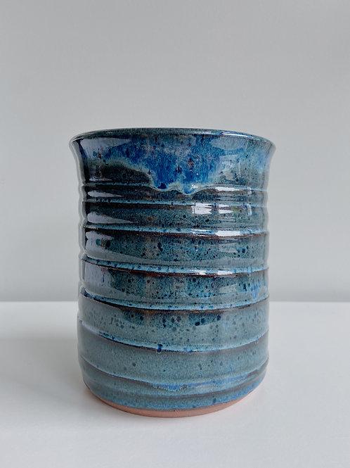 Sea Blue Wine Cooler + Utensil Pot | Sea Winds Pottery