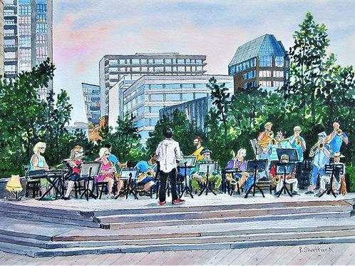 Evening Concert - Original Painting   Pat Shattuck