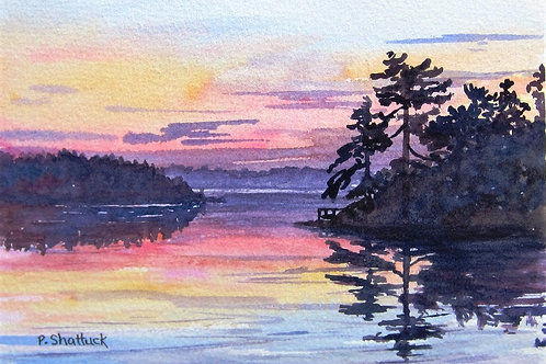 Cottage Sunset - Original Painting | Pat Shattuck