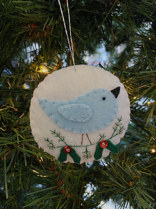Blue Bird Felt Ornament | Rosemary Taylor