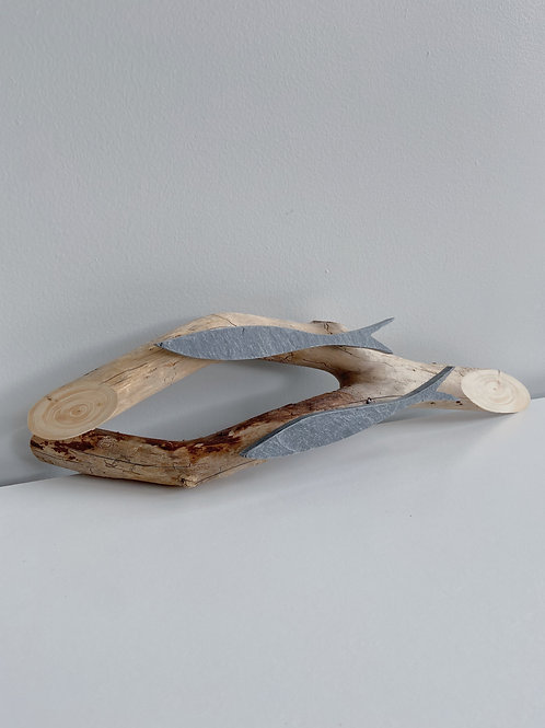 Driftwood + Stone Fish Plaque | Cornerstone