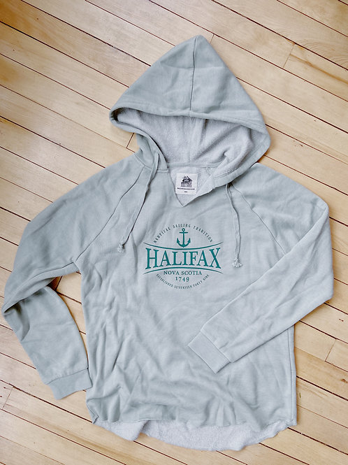 Ladies  Halifax Grey+Soft Sage Hoodie | Tall Ships Trading Co.