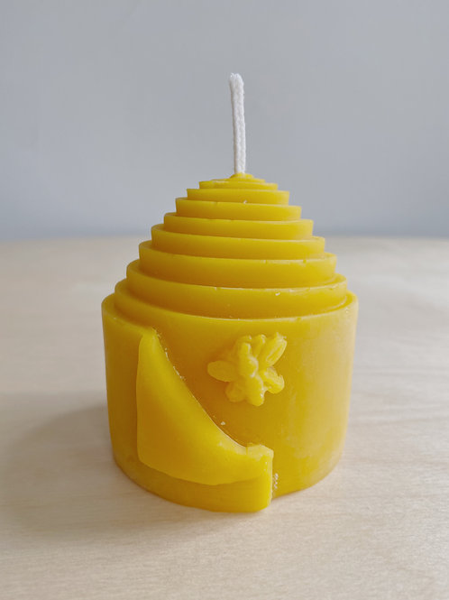 Beeswax Rolled Skep Candle | Kittilsen's Honey