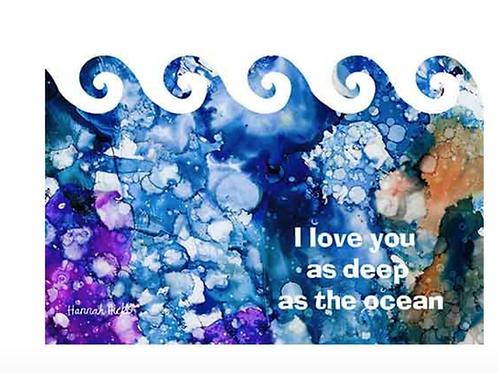 Ocean Card | Hannah Hicks