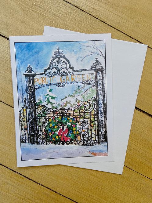 Public Gardens Holiday Card | Pat Shattuck