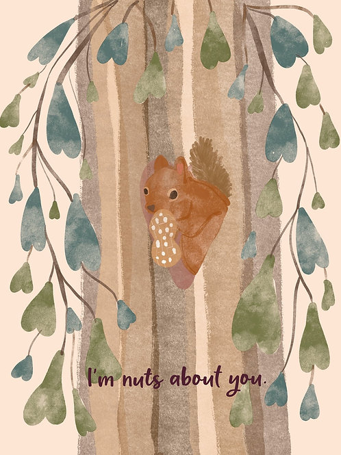 I'm Nuts About You Card   Poplar Paper Co.