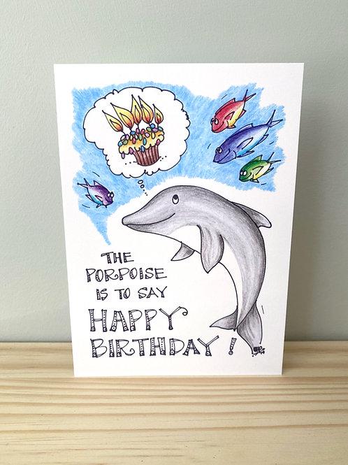 Porpoise Birthday Card   Helen Painter