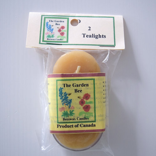 Beeswax Tealight Candles | The Garden Bee