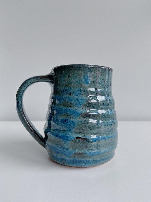 Sea Blue Buoy Mug   Sea Winds Pottery