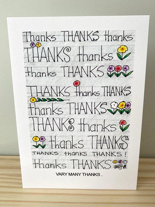 Vary Many Thanks Card | Helen Painter