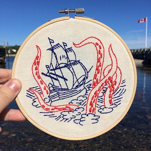 Release the Kraken Complete Embroidery Kit | Hook, Line + Tinker