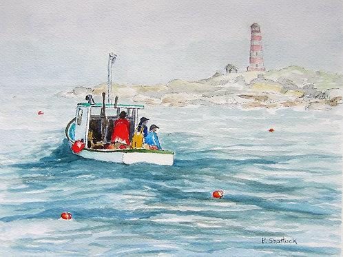 Outbound Sambro Island- Original Painting | Pat Shattuck