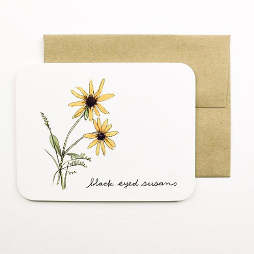 Black Eyed Susans Card   Field Day Paper