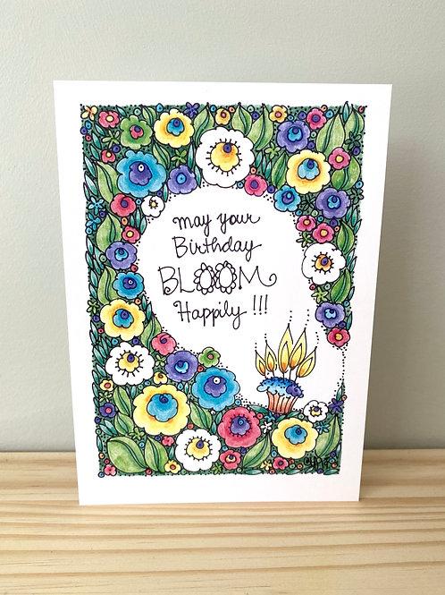 Birthday Bloom Card | Helen Painter