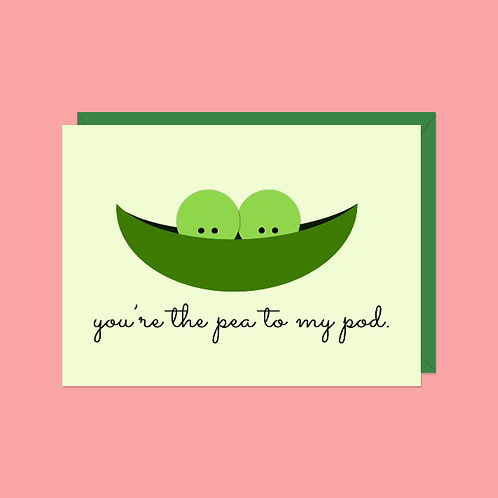 You're the Pea to My Pod Card | Halifax Paper Hearts