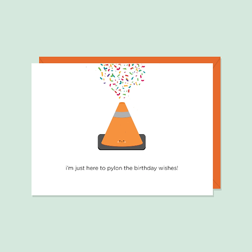 Pylon the Birthday Wishes Card | Halifax Paper Hearts