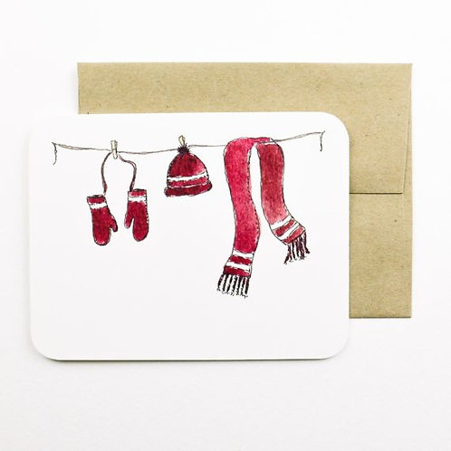 Hat Mitts Scarf Card | Field Day Paper