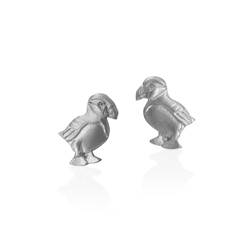 Puffin Earrings | Amos Pewter