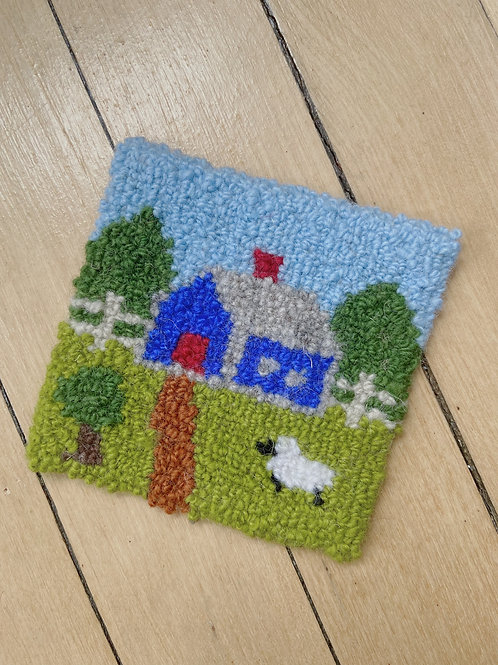 Country Cottage Coaster | Cheticamp Rug Hooking