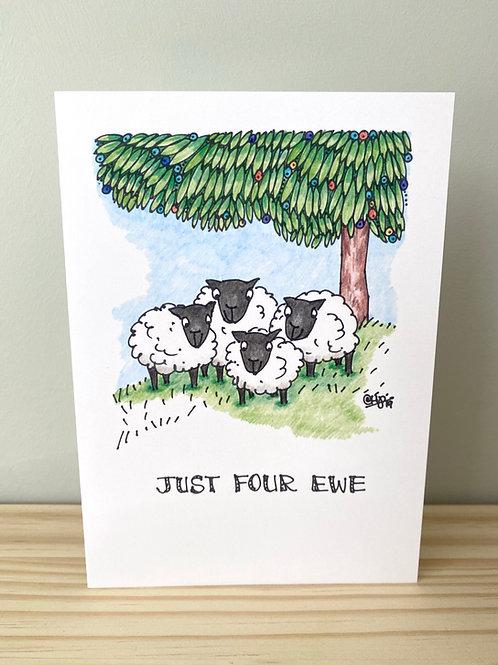 Just for Ewe Card   Helen Painter