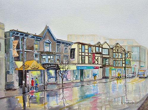 Reflections on Spring Garden Road- Original Painting   Pat Shattuck