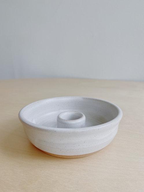 Fog + Mist Taper Candle Holder | Old Barn Pottery