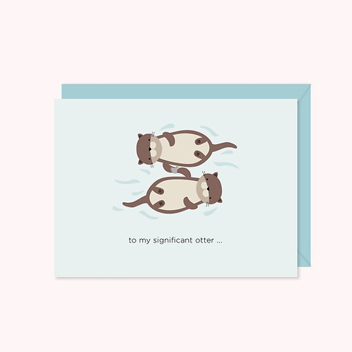 Significant Otter Card | Halifax Paper Hearts