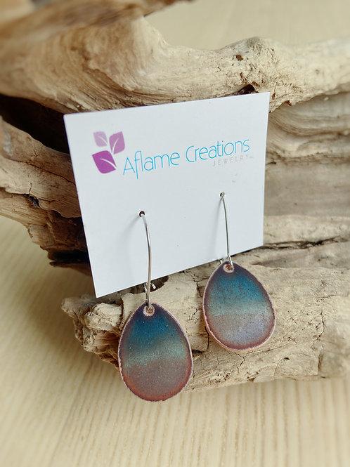 Horizon Teardrop Earrings in Blues   Aflame Creations
