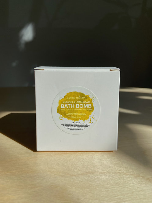Lavender + Lemongrass Bath Bomb | Seafoam Lavender Co.