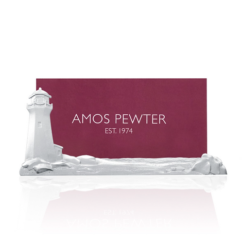 Peggy's Cove Business Card Holder   Amos Pewter