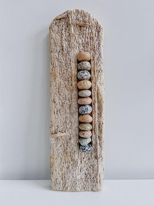Driftwood + Stacked Rock Sculpture | Cornerstone