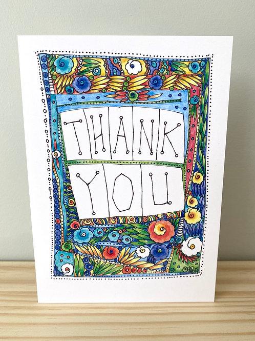 Thank You Flowers Card   Helen Painter