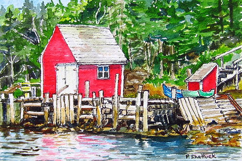 Low Tide - Original Painting   Pat Shattuck