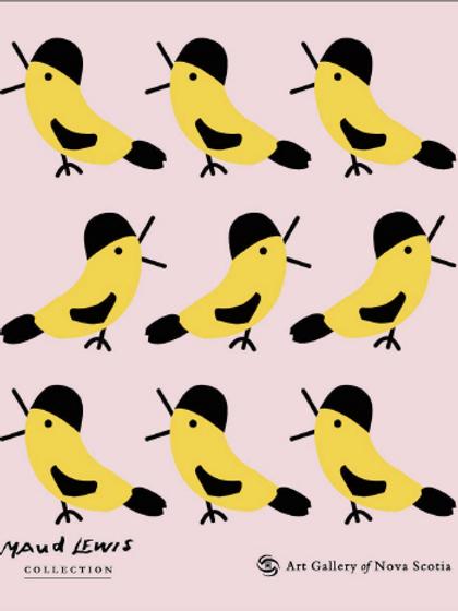 Yellow Bird Swedish Dishcloth | Maud Lewis | Art Gallery of NS