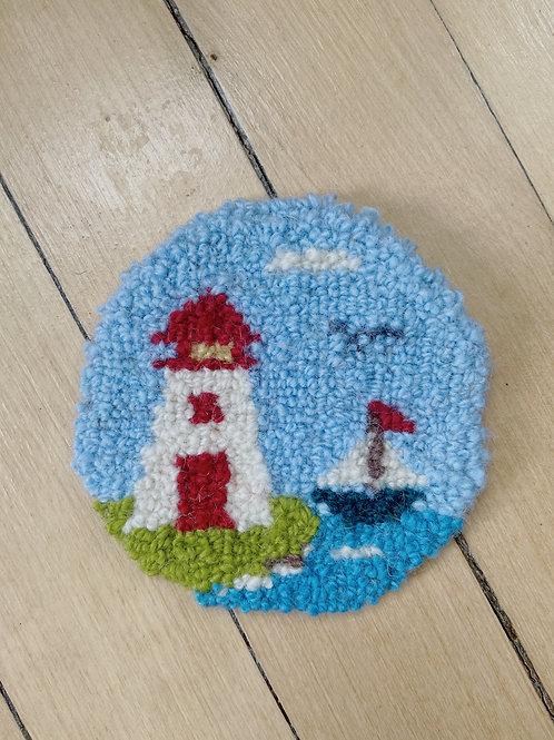 Maritime Lighthouse Coaster | Cheticamp Rug Hooking