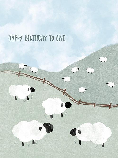 Happy Birthday to Ewe Card | Poplar Paper Co.