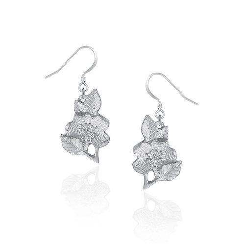 Wild Rose Earrings | Amos Pewter