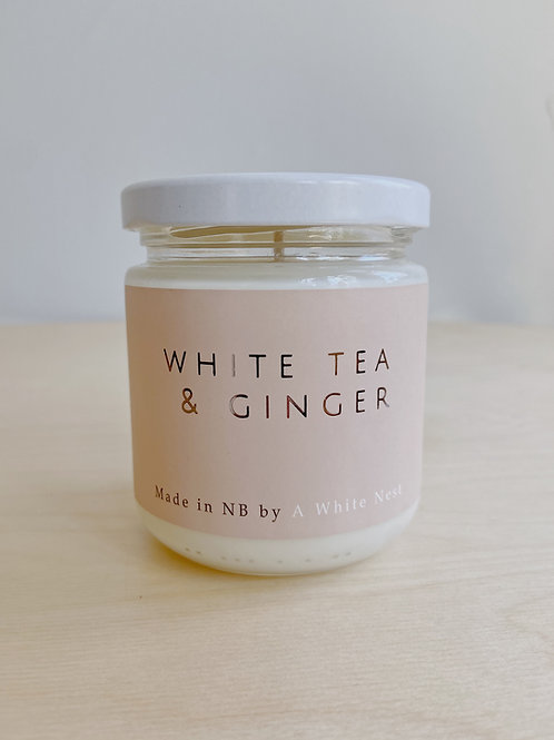 White Tea + Ginger Candle | A White Nest