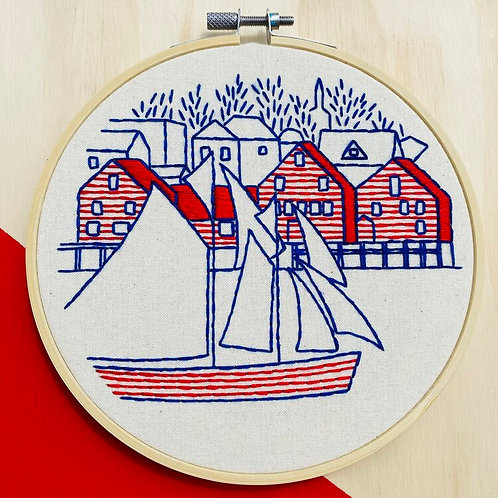 Lunenburg Complete Embroidery Kit | Hook, Line + Tinker