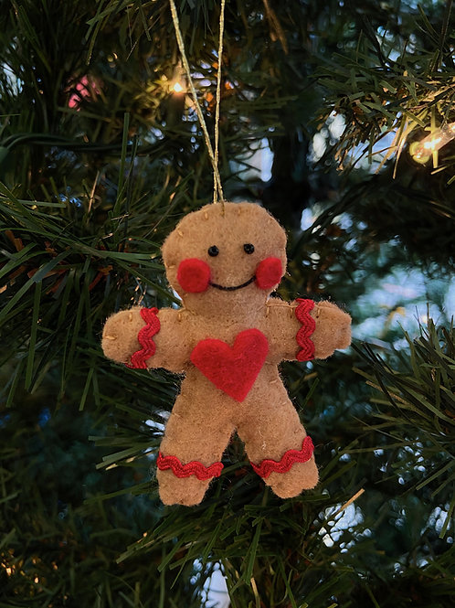 Gingerbread Felt Ornament | Rosemary Taylor