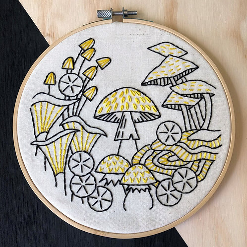Fungus Among Us Complete Embroidery Kit | Hook, Line + Tinker