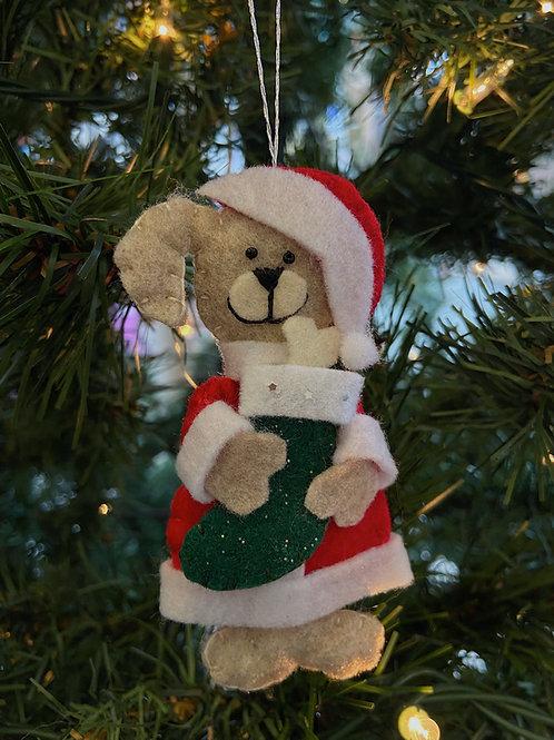 Santa Dog Ornament | Rosemary Taylor