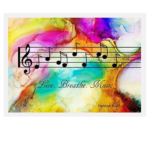Live Breath Music Card | Hannah Hicks