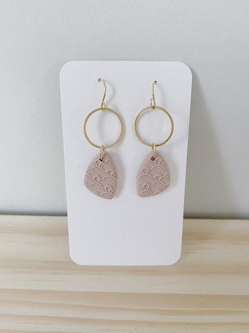 'Hope' Pink Eyelet Earrings   Something Handmade