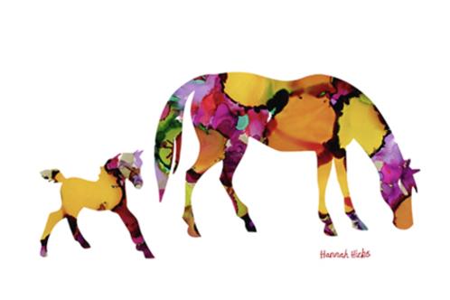 Mare + Foal Card | Hannah Hicks