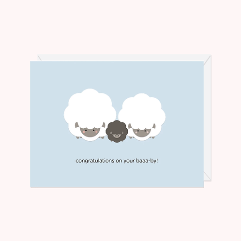 Congratulations on your Baaa-by! Card | Halifax Paper Hearts