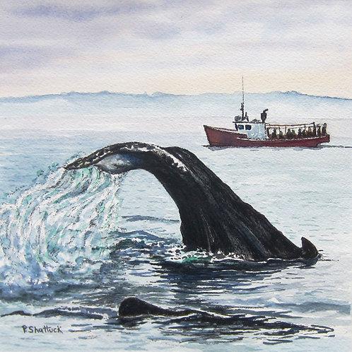 The Whale Watchers - Original Painting | Pat Shattuck