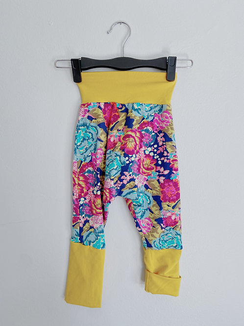 Grow-With-Me Pants   Yellow + Bright Floral   Saelvage