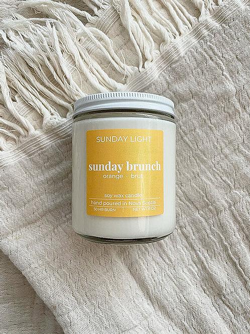 Sunday Brunch | orange + brut | Sunday Light Candle Co.