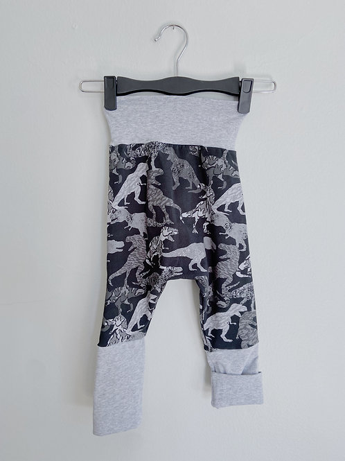 Grow-With-Me Pants | Grey + Dinosaurs | Saelvage